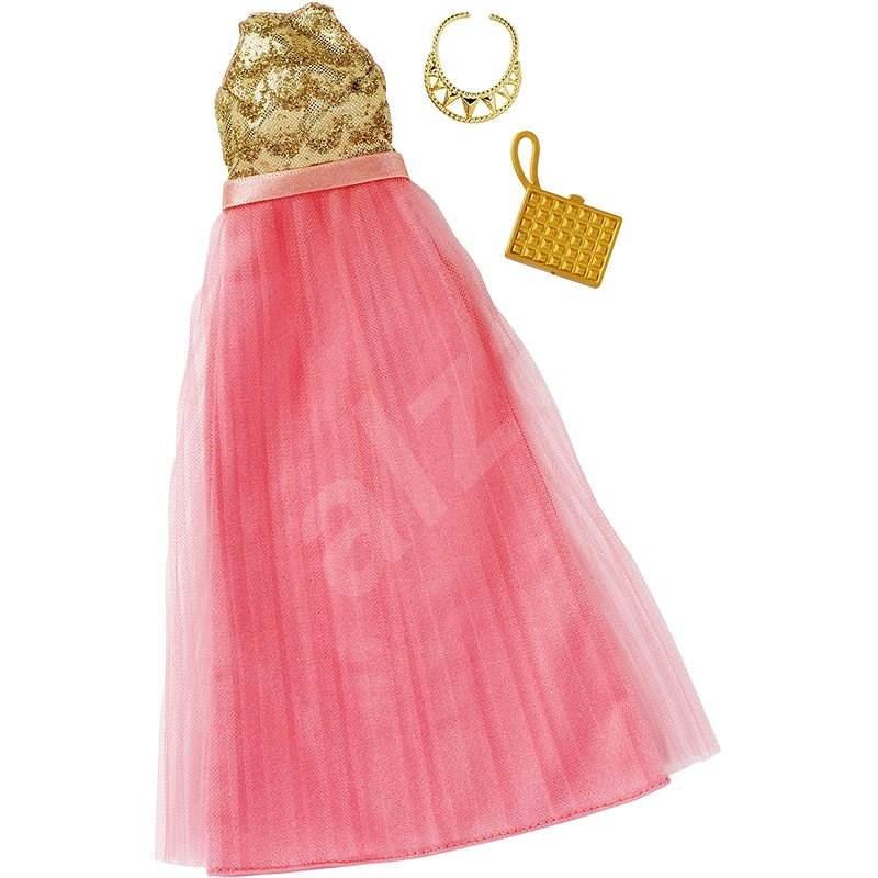 Mattel Barbie Abendkleid mit Accessoires - Rosa/Gold - Puppen-Zubehör