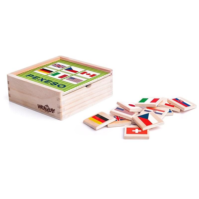Woody Pexeso-Flaggen - Spielset
