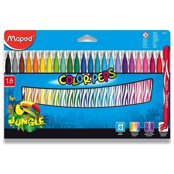 Maped Color Peps Jungle, 18 Farben - Filzstifte