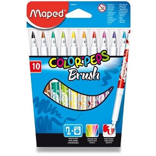 Bürobedarf-Set Maped Color Peps Brush, 10 Farben - Filzstifte