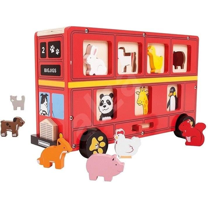 Bigjigs Bus mit Tieren - Didaktisches Spielzeug
