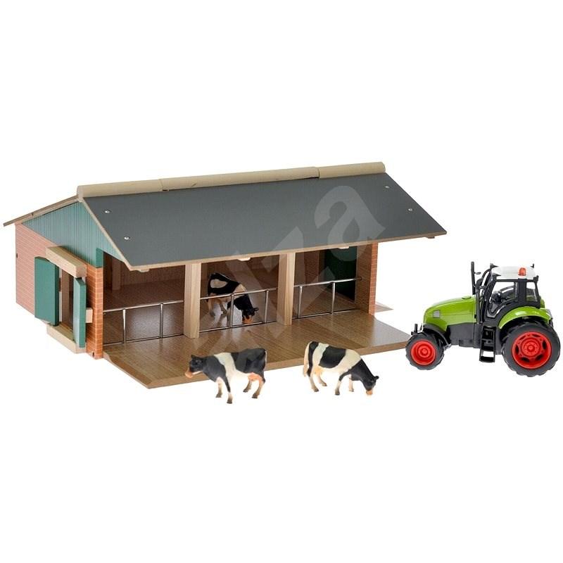 Bauernhof mit Traktor - Holzspielzeug