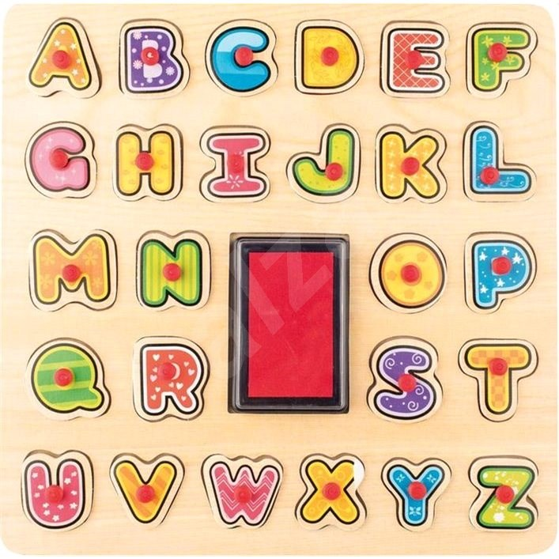 Woody Stempel/Puzzle ABC - Didaktisches Spielzeug