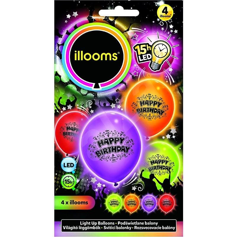 LED-Ballons - Geburtstag 4 Stück - Spielset