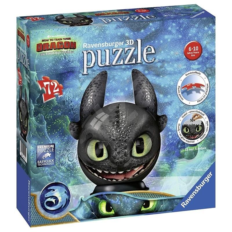 Ravensburger 3D 111459 Puzzle-Ball Drachenzähmen 3: Zahnlos - 3D Puzzle