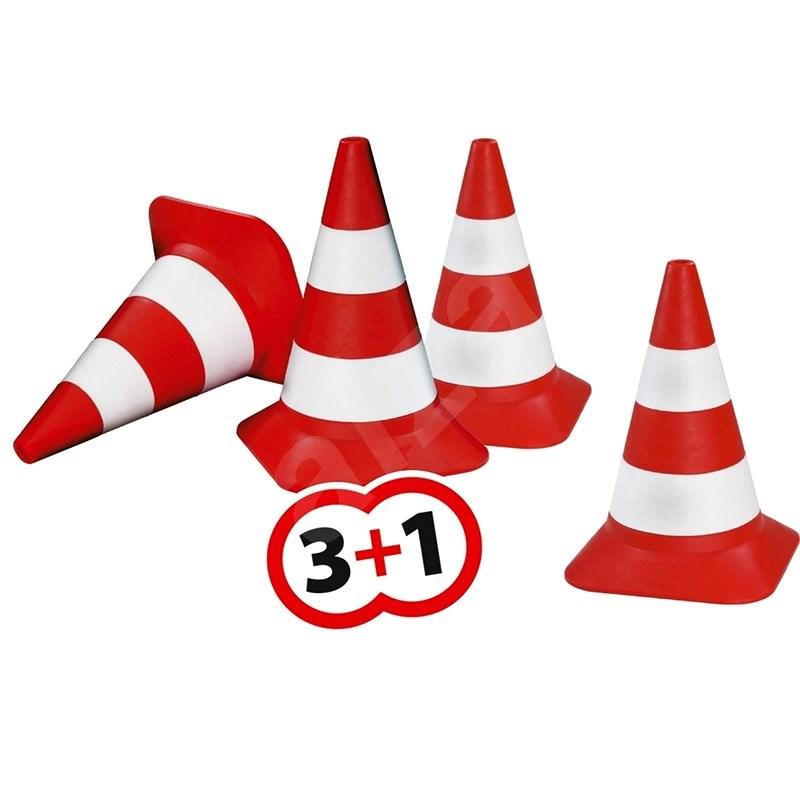 BIG Verkehrskegel für Kinder - 4 Stück - Spielplatz-Zubehör