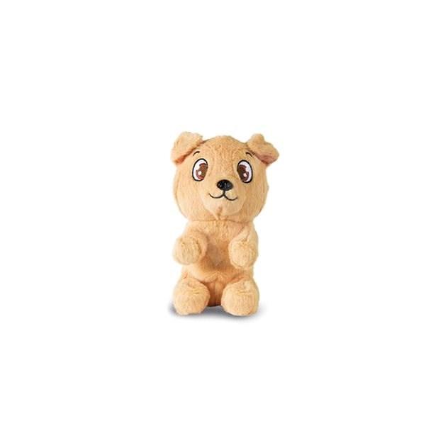 Mini Tickles brauner Hund - Tier
