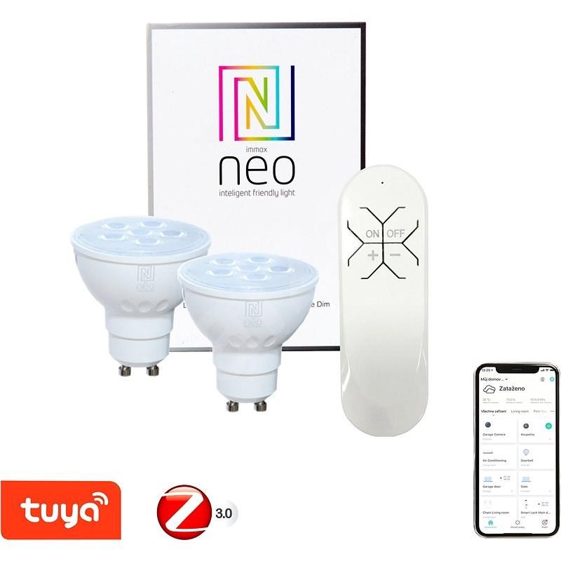 Immax Neo LED GU10 / 230V 4,8W 2Stk. + Fernbedienung - LED-Birne