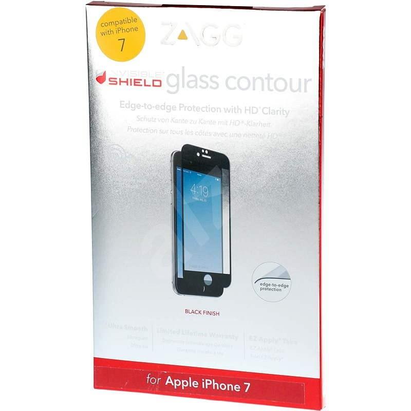 InvisibleSHIELD Contour Glas für Apple iPhone 7 - schwarzer Rahmen - Schutzglas