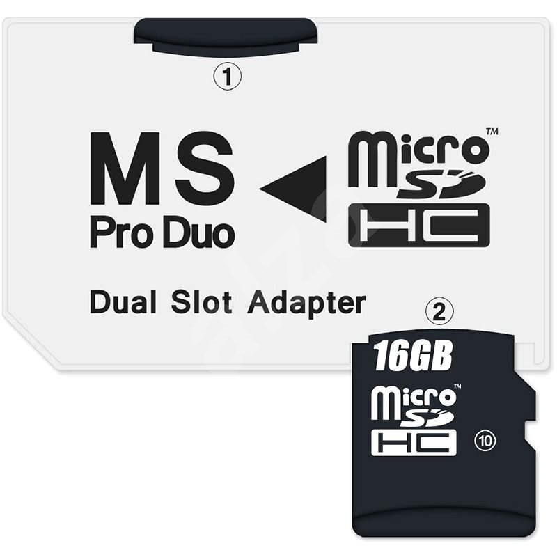 CONNECT IT MS PRO DUO auf 2 x Micro SDHC - Adapter