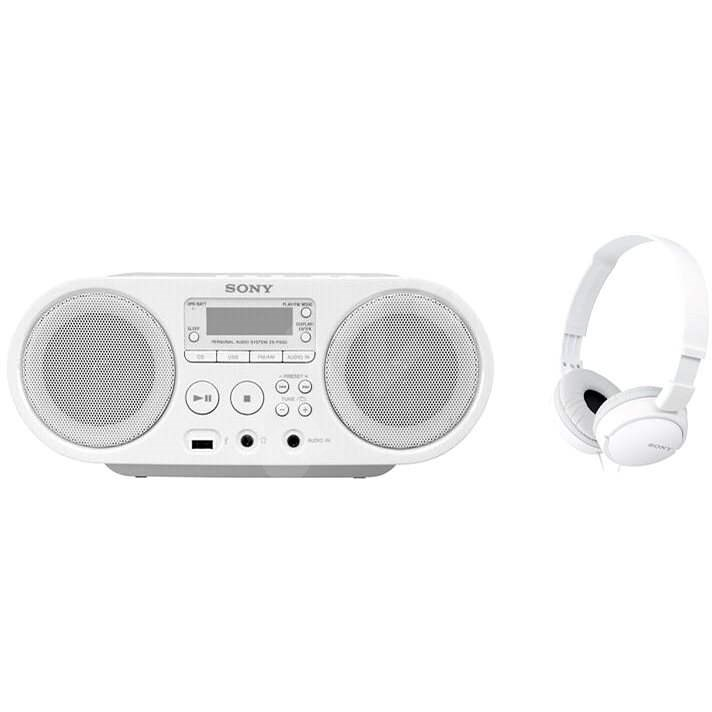 Sony ZS-PS50W + MDR-ZX110 - Radio mit Kassettenrecorder