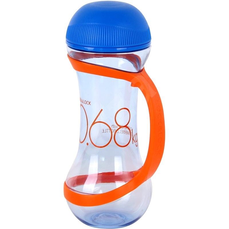 Lock & Lock Sportflasche, Hantel, Volumen 560ml, blau - Trinkflasche