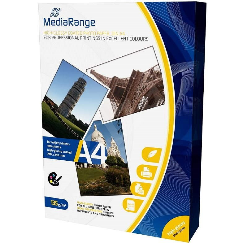 MEDIARANGE 100 A4-Bogen, glänzend - Fotopapier