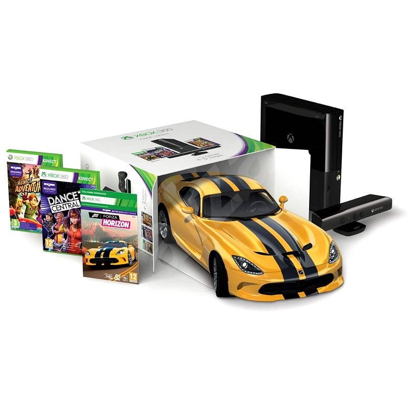 Microsoft Xbox Kinect Bundle 360.250 GB + Kinect Adventures + Dance Central 3 + Forza Horizon (Reface - Spielkonsole