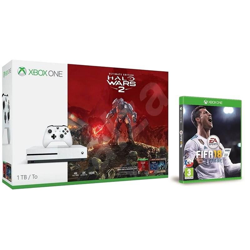 Microsoft Xbox One S 1TB Halo Wars 2 bundle + FIFA 18 - Spielkonsole