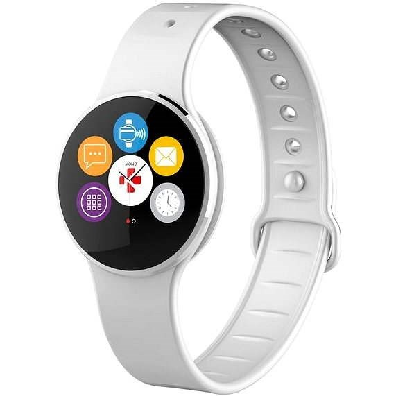 MyKronoz ZeCircle2 Silver White - Smartwatch