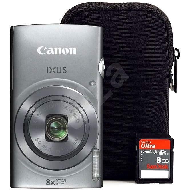 Canon IXUS 165 Silber + 8 GB SD-Karte + Case - Digitalkamera