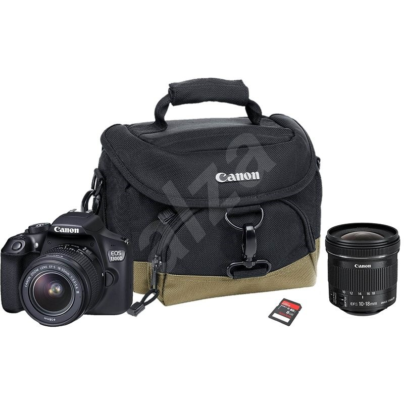 Canon EOS 1300D + EF-S 18-55mm DC III Value Up Kit + Objektiv 10-18mm IS STM - Digitalkamera