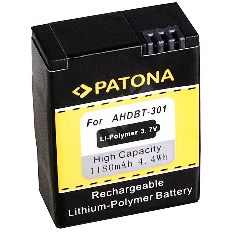 PATONA für GoPro HD Hero 3 1180 mAh Li-Ion - Videokamera-Akku