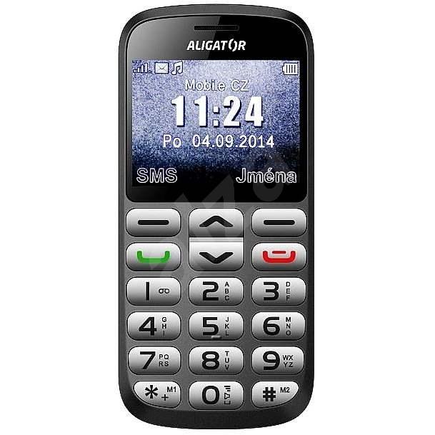 Aligator A870 GPS Senior Grau + Tischladegerät - Handy