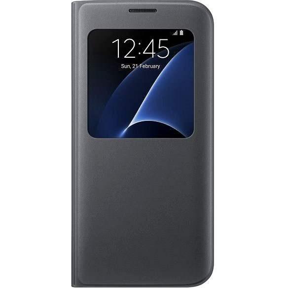 Samsung S-View Cover EF-CG935P für Galaxy S7 edge - schwarz - Handyhülle
