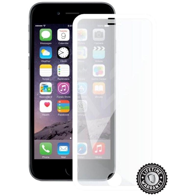 Screenshield APPLE iPhone 6 WHITE metalic frame - Schutzglas
