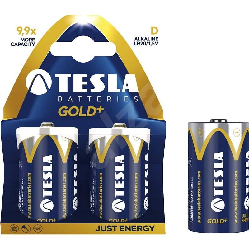 Tesla Batteries D Gold+ 2ks - Einwegbatterie