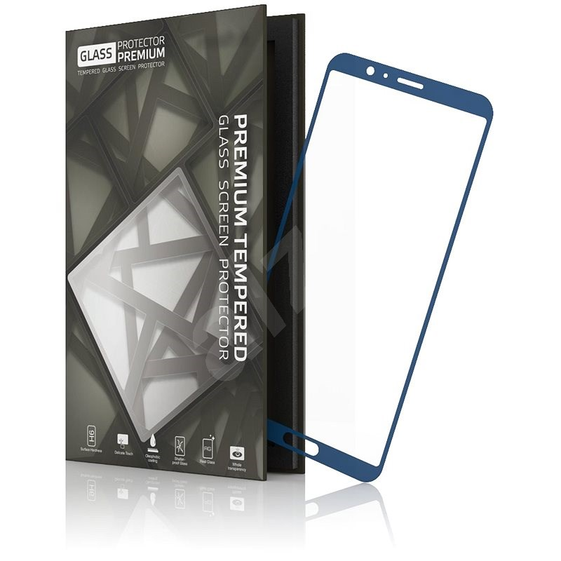 Tempered Glass Protector mit Rahmen für Honor View 10 Blue - Schutzglas