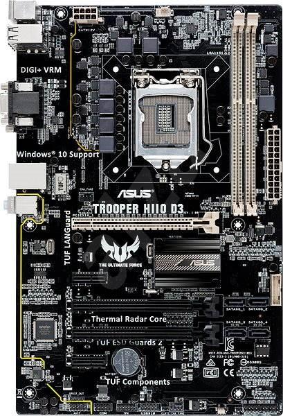 ASUS TROOPER H110 DDR3 - Motherboard