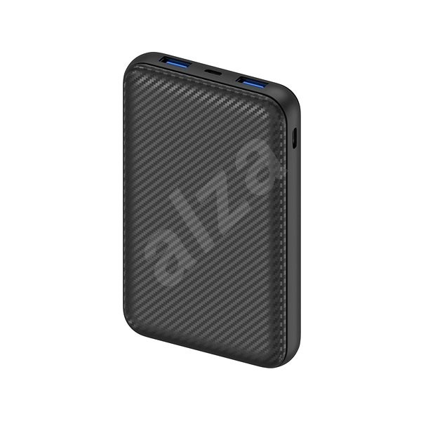 AlzaPower Carbon 10.000mAh Fast Charge + PD3.0 schwarz - Powerbank