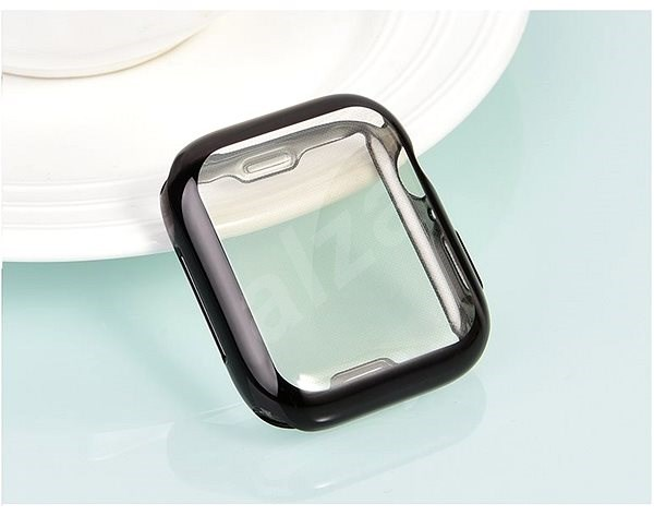 COTEetCI Vollflächiges Thermoplast-Schutzgehäuse für Apple Watch 44 mm schwarz - Schutzhülle