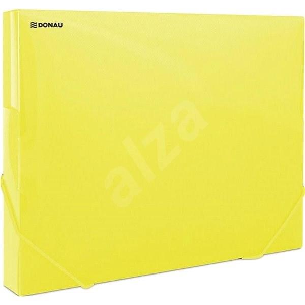 DONAU Propyglass A4 - transparent, gelb - Dokumentenmappe