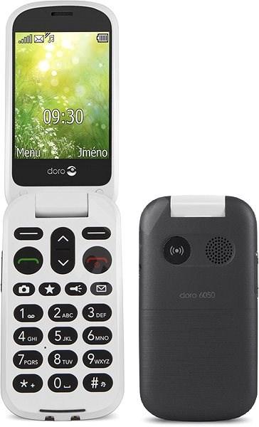 Doro 6050 Graphite White - Handy