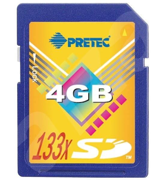 PRETEC Secure Digital 4GB Cheetah 133x - Speicherkarte