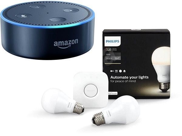 Dot Light Lampen : Philips hue white 8.5w e27 starter kit amazon echo dot schwarz 2