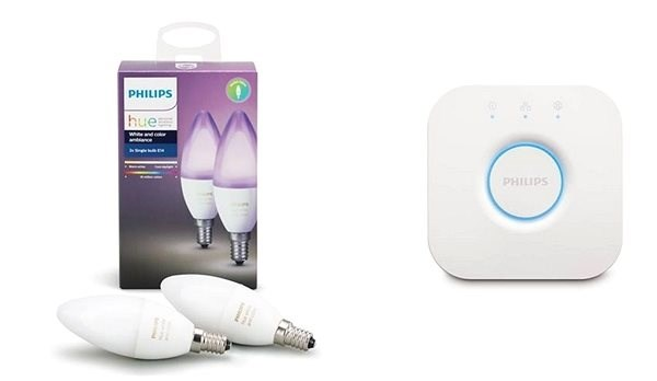 Philips Lampen Led : Philips hue white and color ambiance 6w e14 set 2stück philips hue