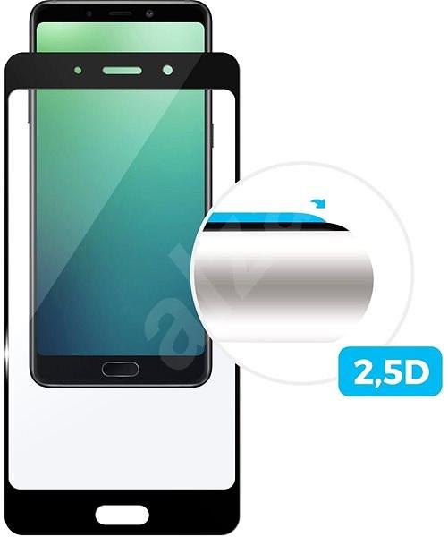 FIXED FullGlue-Cover für Huawei Y6 Prime (2018) schwarz - Schutzglas