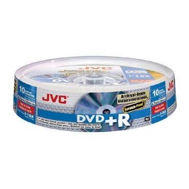 JVC DVD+R Archival Scratch-Proof 4.7GB 16x 10ks spindle box - Media