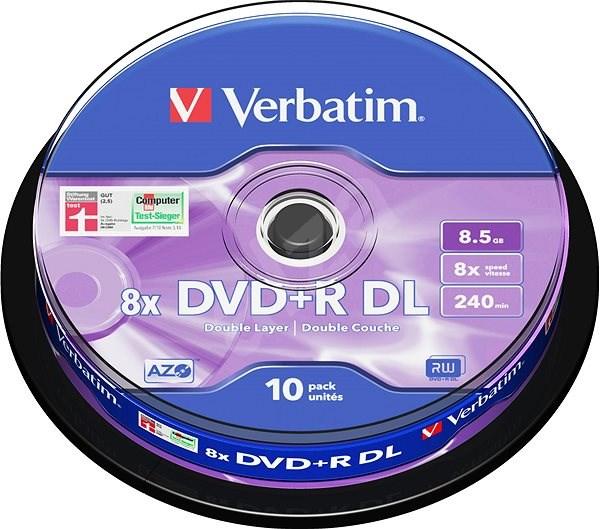 Verbatim DVD + R 8x Dual Layer 10 Stück cakebox - Media