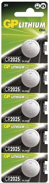 GP CR2025 Lithium 5 Stück in Blisterpackung - Knopfbatterie