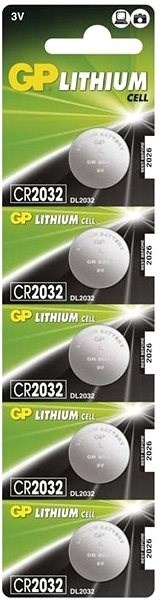 GP CR2032 Lithium 5 Stück in Blisterpackung - Knopfbatterie