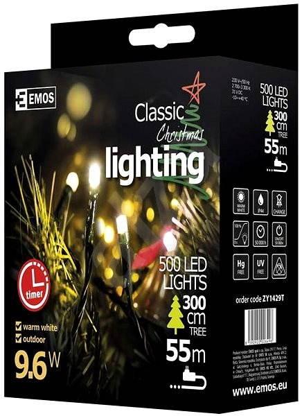 EMOS LED-Weihnachtslichterkette, 50 m, warmweiss, Timer - Weihnachtsketten