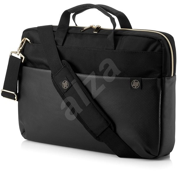 "HP Pavilion Accent Briefcase Black/Gold 15.6"" - Laptop-Tasche"