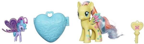 My Little Pony - Pony mit einem magischen Schlüsselanhänger und Zubehör Fluttershy & Sea Breezie - Figur