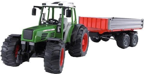 Class bruder fendt traktor mit einem anhänger und einem frontlader
