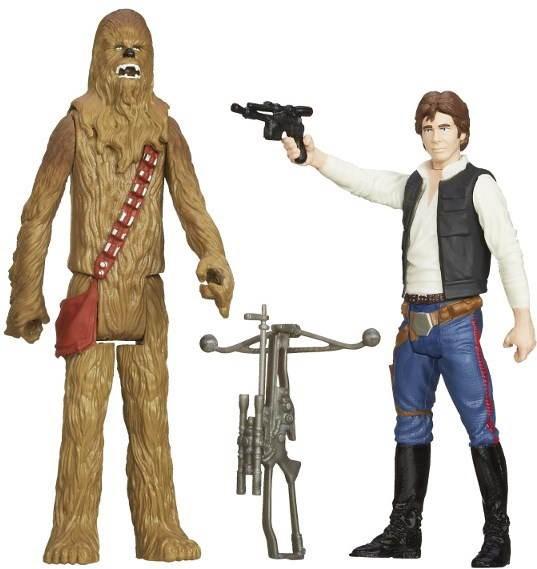 Star Wars - Action-Figuren Han Solo & Chewbacca - Figur