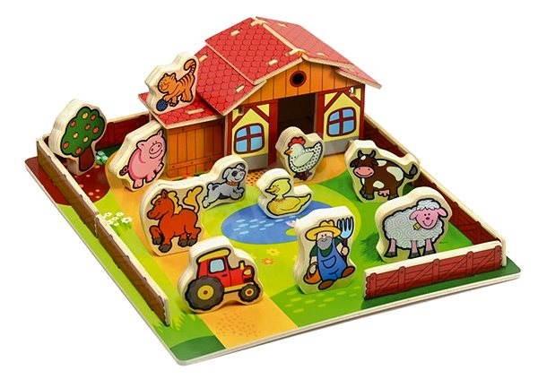 Holzfarm - Meine ersten Tiere 28 Teile - Didaktisches Spielzeug