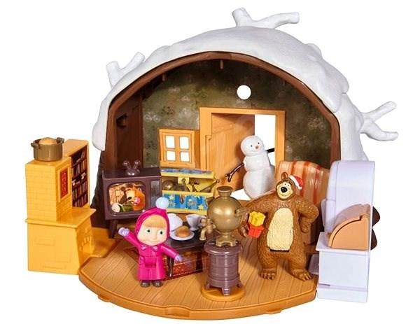 Simba Masha und der Bär Winterhaus des Bären - Puppenhaus