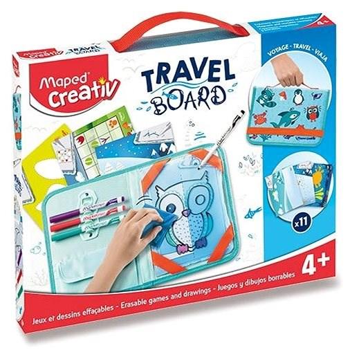 Spielset Maped Travel Board - Spiele und Zeichnungen mit Tieren - Kreativset