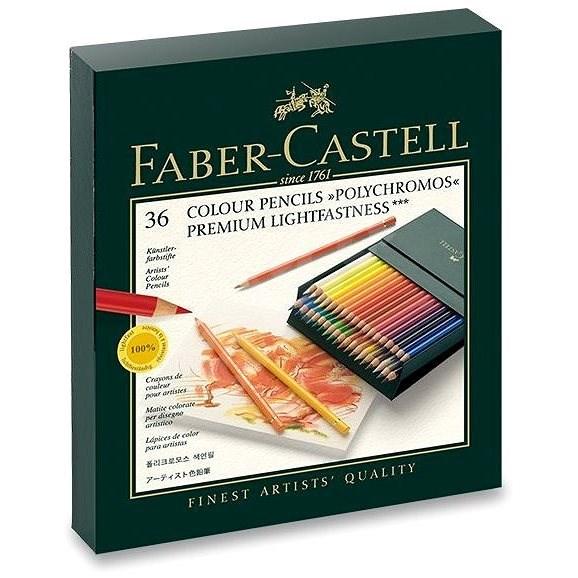 Faber-Castell Polychromos Buntstifte in einer praktischen Schachtel (Atelierbox) - 36 Farben - Bundstifte